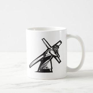 Christ and Cross Basic White Mug
