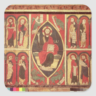 Christ and His Apostles Square Stickers