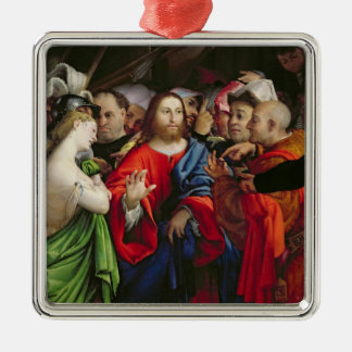 Christ and the Adulteress, c.1527-29 Christmas Ornament