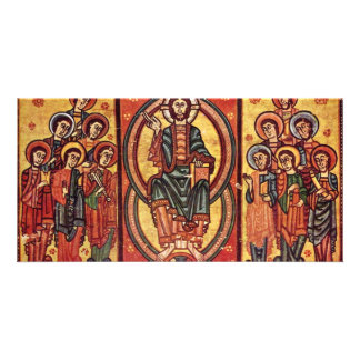Christ And The Apostles By Katalanischer Meister Photo Card Template