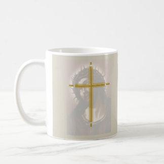 Christ and The Cross. Basic White Mug