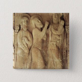 Christ and the Pilgrims of Emmaus 15 Cm Square Badge