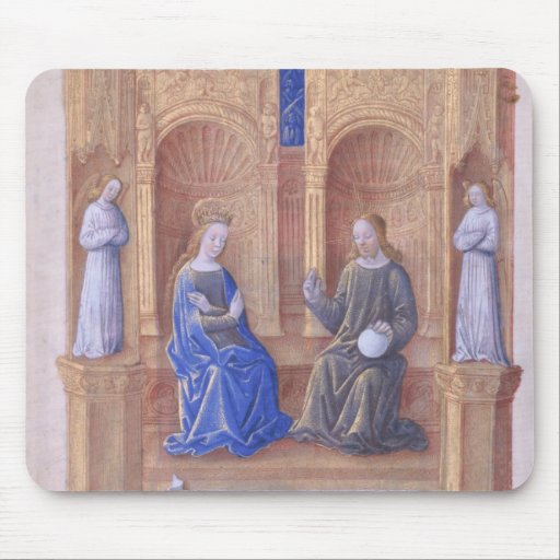 Christ and the Virgin Mary Enthroned Mousepads