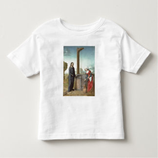 Christ and the Woman of Samaria, c.1500 (oil on pa Toddler T-Shirt