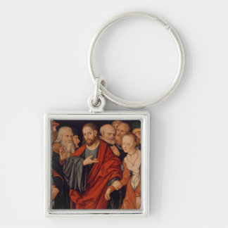 Christ and the Woman taken in Adultery Key Ring