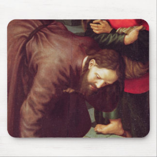 Christ and the woman taken in adultery mouse pad
