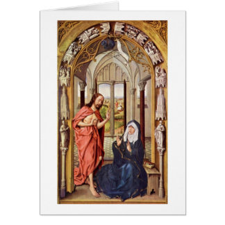 Christ Appears To Mary By Rogier Van Der Weyden Greeting Card