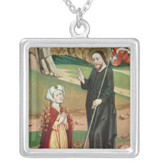 Christ Appears to Mary Magdalene Silver Plated Necklace