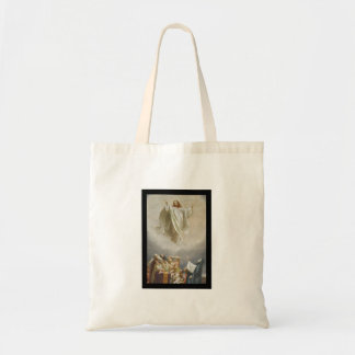 Christ Ascension to Heaven Observed by Apostles Budget Tote Bag