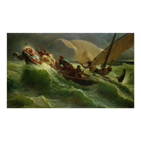 Christ Asleep in his Boat Poster