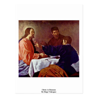 Christ At Emmaus By Diego Velázquez Post Card