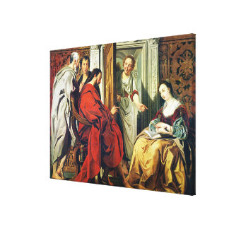 Christ at House of Martha and Mary of Bethany Canvas Print