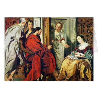 Christ at House of Martha and Mary of Bethany Card