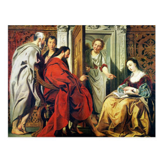 Christ at House of Martha and Mary of Bethany Postcard