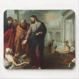 Christ at the Pool of Bethesda, 1667-70 (oil on ca Mouse Mat