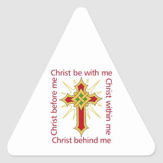 CHRIST BE WITH ME TRIANGLE STICKER