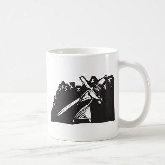 Christ Bearing Cross Basic White Mug