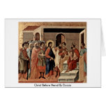 Christ Before Herod By Duccio Card