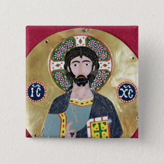 Christ Blessing, 10th-11th century 15 Cm Square Badge
