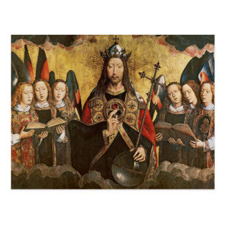 Christ Blessing, central panel from a triptych Post Card