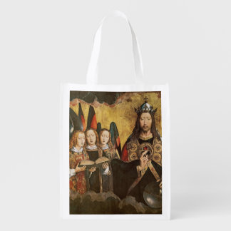 Christ Blessing, central panel from a triptych Reusable Grocery Bag