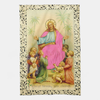 CHRIST BLESSING kitchen towel