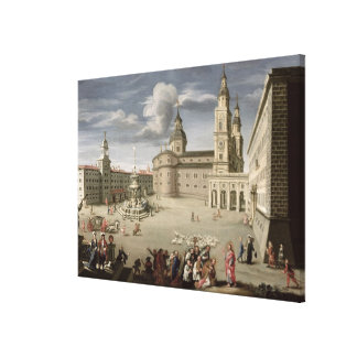 Christ blessing the people of Salzburg Canvas Print