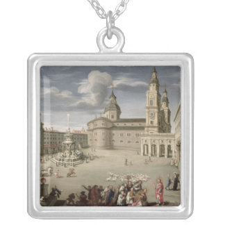 Christ blessing the people of Salzburg Silver Plated Necklace