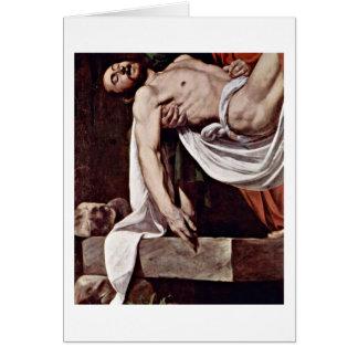 Christ By Michelangelo Merisi Da Caravaggio Greeting Card