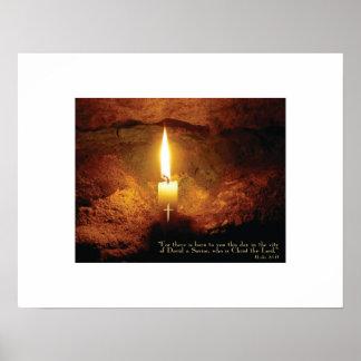 """Christ Candle"" Christian Art Print"