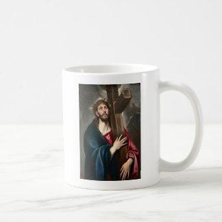 Christ Carrying the Cross Basic White Mug