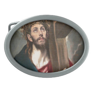 Christ Carrying the Cross Oval Belt Buckles