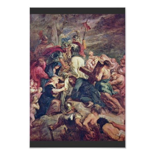 Christ Carrying The Cross By Rubens Peter Paul Poster