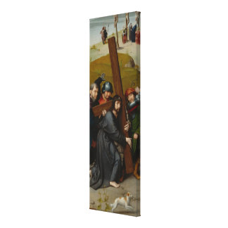 Christ Carrying the Cross, with the Crucifixion Canvas Print