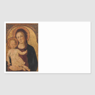 Christ Child in  Arch with Mother Rectangular Sticker
