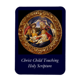 Christ Child Touching the Holy Scripture Rectangular Magnet