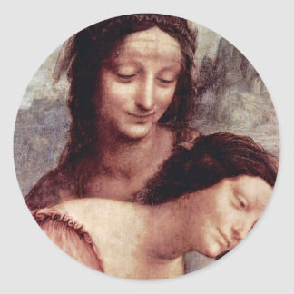 Christ Child With St Anne Maria Lamb By Leonardo Stickers