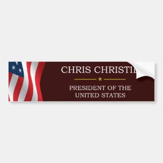Christ Christie President V3 Bumper Sticker