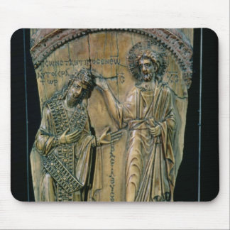 Christ Crowning the Emperor Constantine VII Mouse Mat