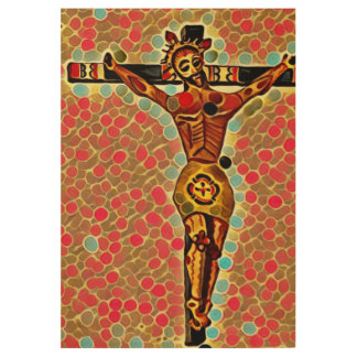 Christ Crucified Wood Poster