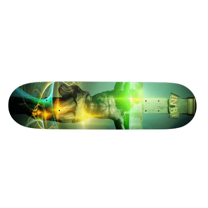 Christ Defeating Death Custom Skate Board