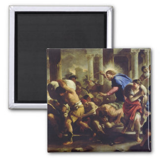 Christ Driving the Merchants from the Temple Square Magnet