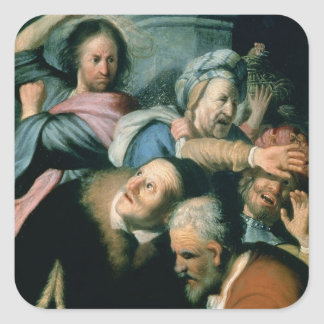 Christ Driving the Moneychangers Square Sticker