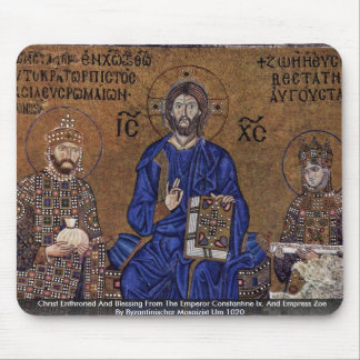 Christ Enthroned And Blessing From The Emperor Mouse Pad