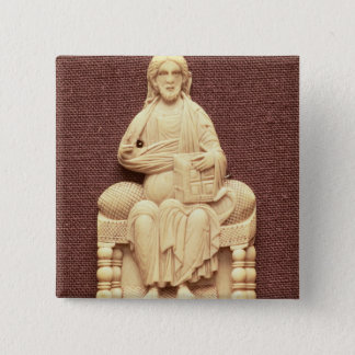 Christ enthroned, Byzantine, 10-11th century 15 Cm Square Badge