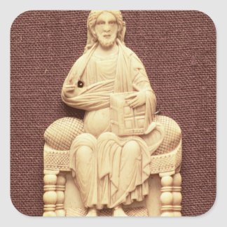 Christ enthroned, Byzantine, 10-11th century Square Sticker