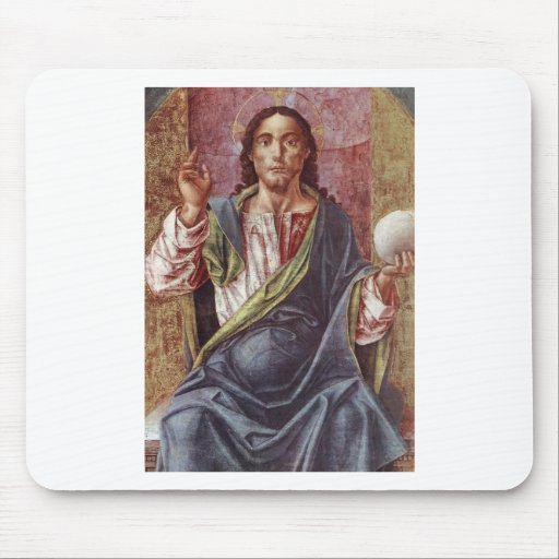 """Christ Enthroned"" circa 1450 Mouse Pad"