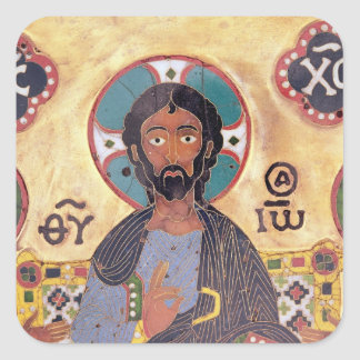 Christ Enthroned Square Sticker