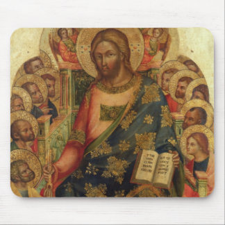 Christ Enthroned with Saints and Angels Handing th Mouse Pad