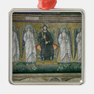 Christ enthroned with the angels 2 christmas ornament